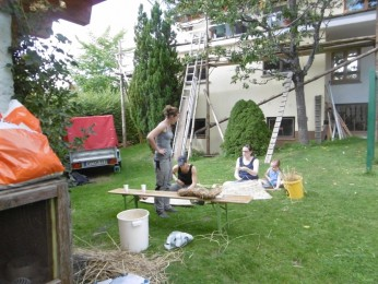 2017 Strohskulpturen-Bau der Zöglinge